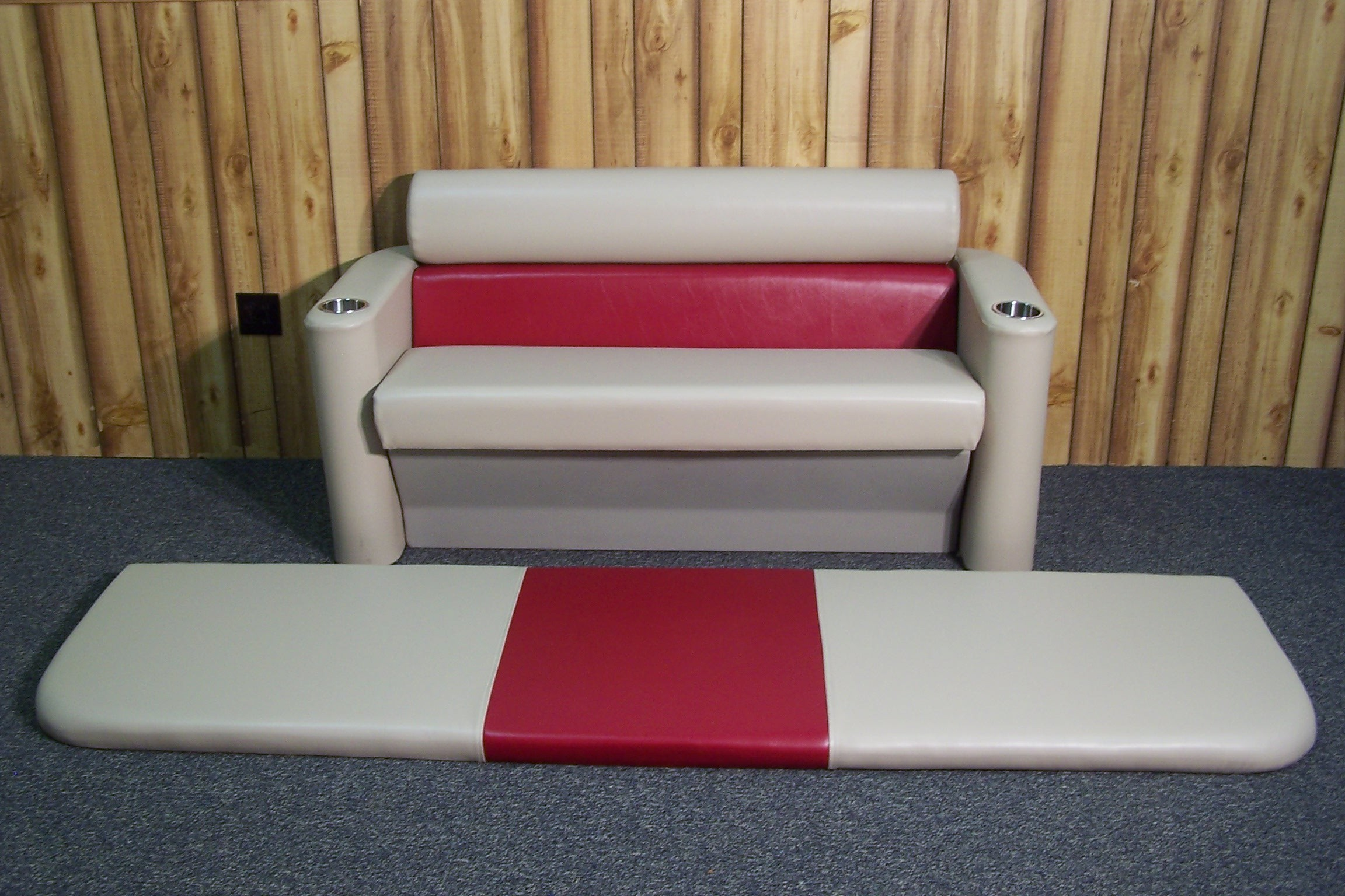 Remanufactured Pontoon Boat Sun Deck Lounge