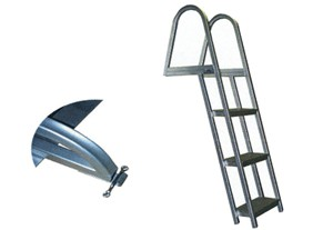 Model L55 Non-Folding (angled) Pontoon Swim Ladder