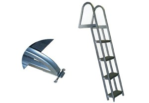 Model L65 Non-Folding (angled) Swim Pontoon Ladder