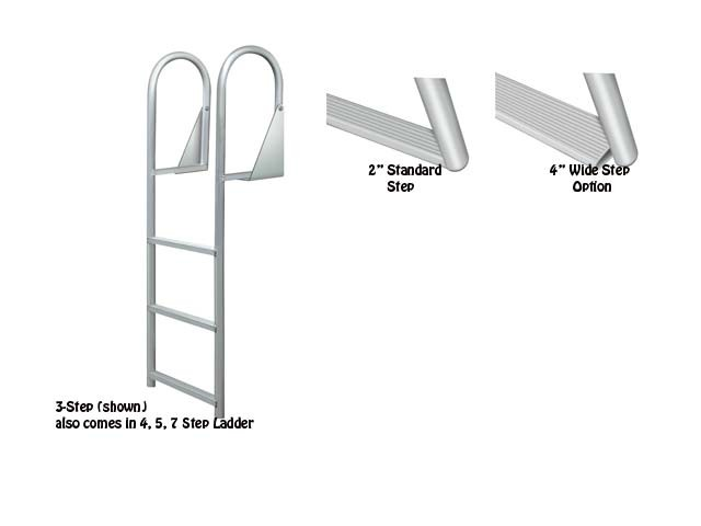 hinged dock ladder