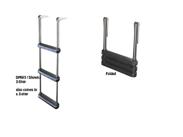 telescoping drop boat ladder