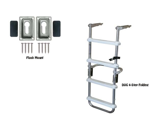 4 step folding deck ladder