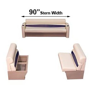 90 inch stern elite style complete pontoon seating group furniture