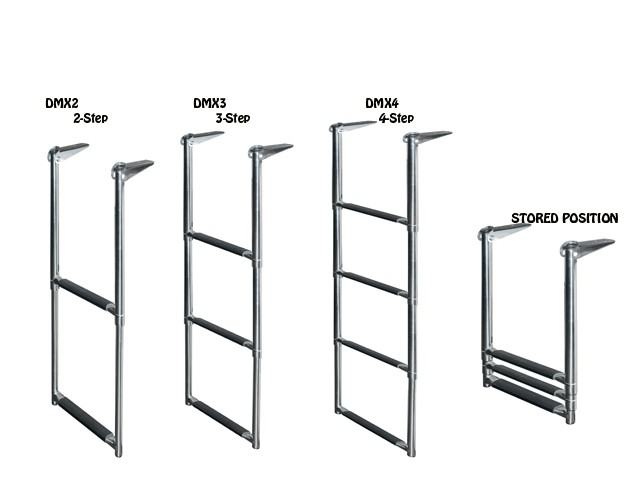 telescoping drop ladder