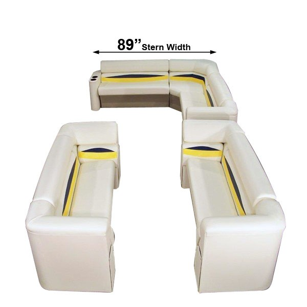 89 inch stern platinum style complete pontoon seating group furniture