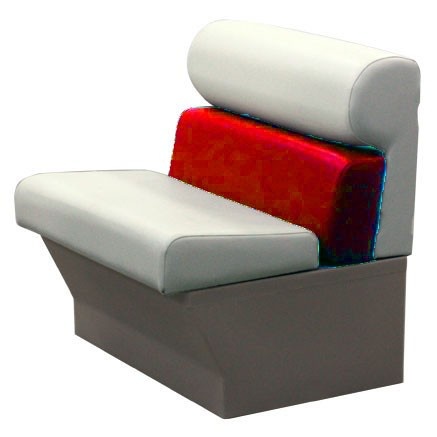 Premium 39 inch Pontoon Boat Seat Perspective View