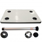Complete cream big card table with stainless steel cupholders