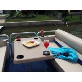 Large Rectangle Shape Pontoon Boat Table
