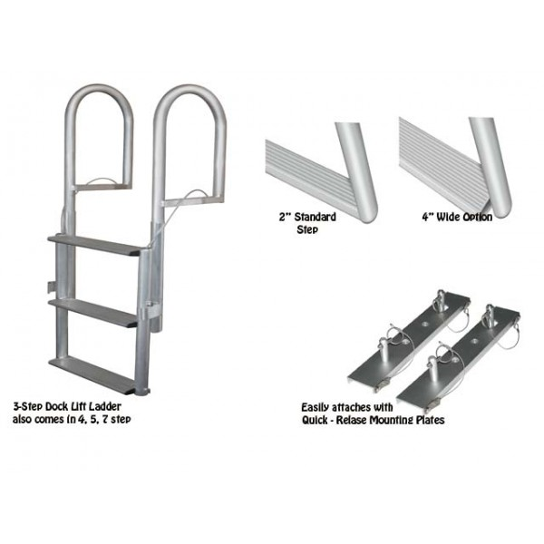 Marine Dock Lift Ladder J Ladders And Replacement Hardware