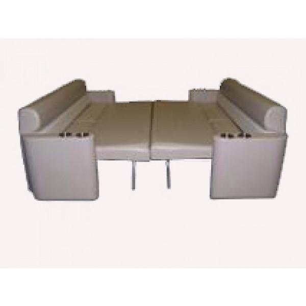 Pontoon sun lounge sleeper seat for Pontoon boat interior designs