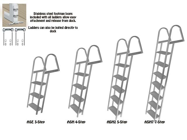 3 to 7 step dock ladder