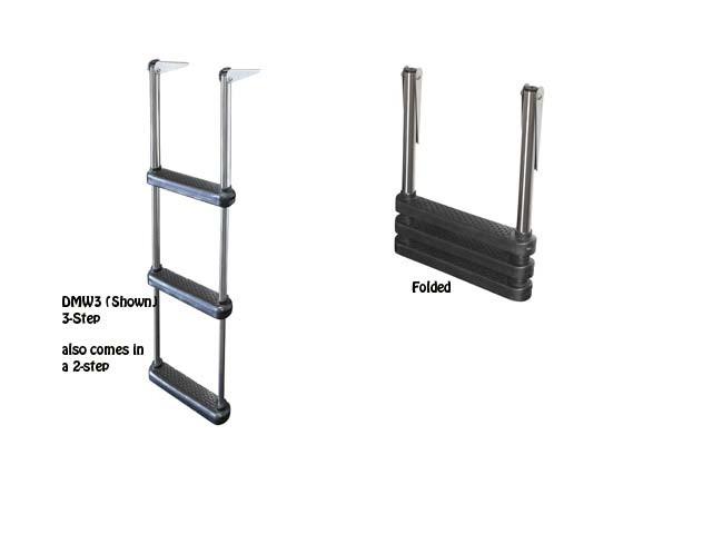 telescoping drop boat ladder
