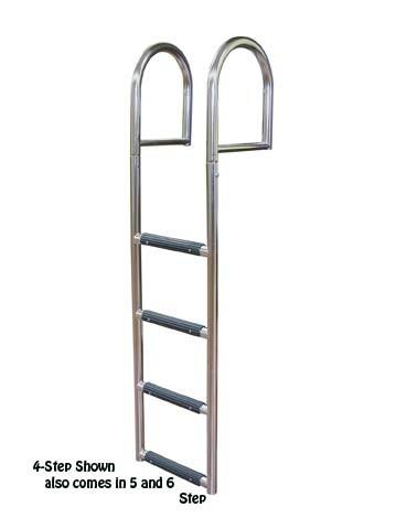 Stationary dock ladder