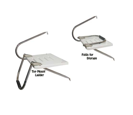 outboard boat platform with 1 step