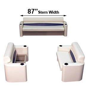 87 inch stern elite style complete pontoon seating group furniture