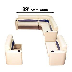 89 inch stern elite style complete pontoon seating group furniture