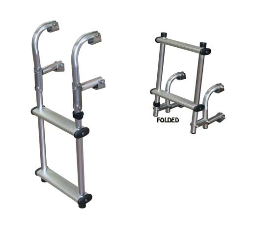 compact transom boat ladder