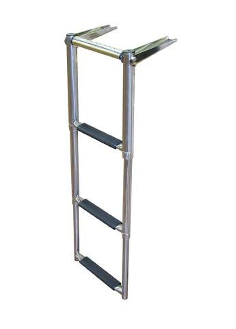 over platform telescoping boat ladder