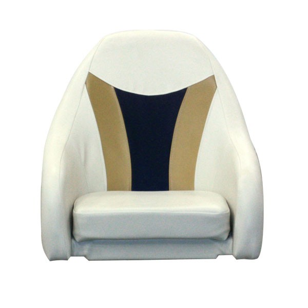 Platinum Style Standard Pontoon Captains Chair Helm Seat - Front View with Pedestal