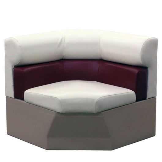 Premium 33 inch Pontoon Corner Boat Seat Furniture - Front View