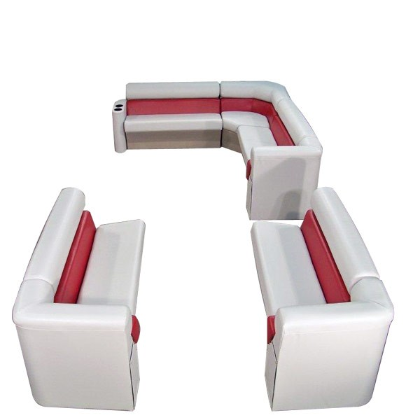 89 inch stern premium style complete pontoon seating group furniture