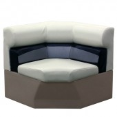 Elite 33 inch Pontoon Corner Boat Seat Furniture - Front View