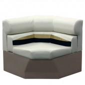 Platinum 33 inch Pontoon Corner Boat Seat Furniture - Front View