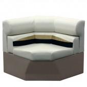 Platinum 33 inch Pontoon Corner Boat Seat Furniture - Front View