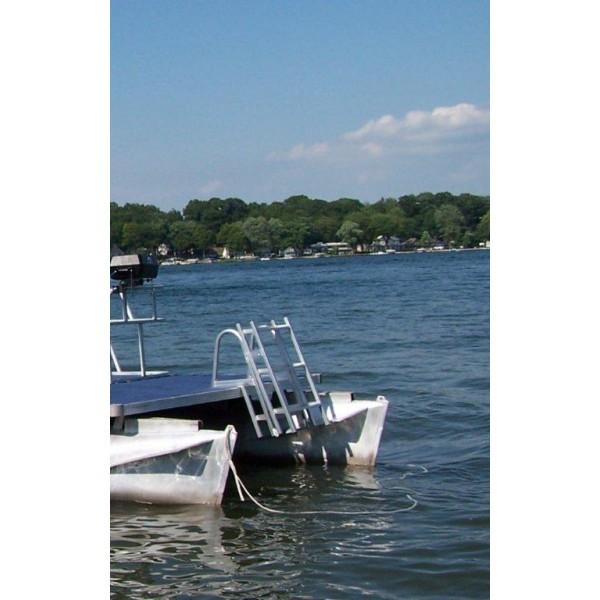 65ft Aluminum Folding Pontoon Swim Ladder
