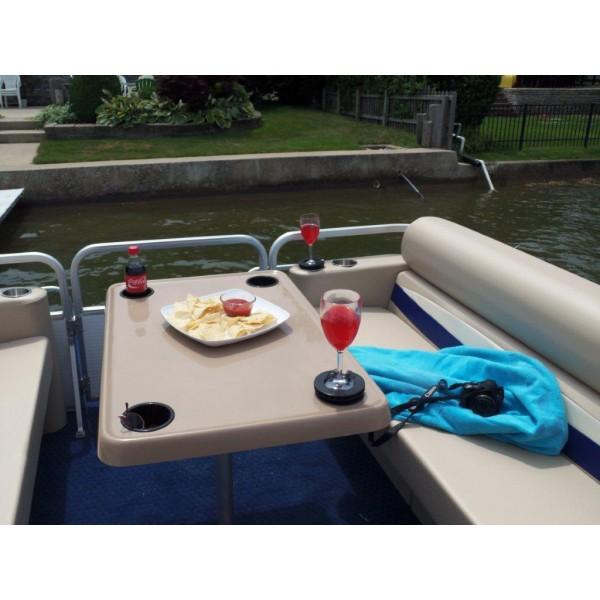 large rectangle shape pontoon boat table rh everythingpontoon com  coffee table for pontoon boats