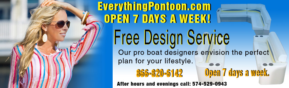 Everything Pontoon, offers free design service to help you get the perfect seating group for your lifestyle.
